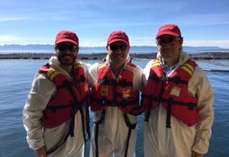 Gerentes de Skretting visitan centro de Marine Farm
