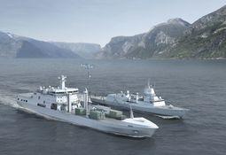 Logistikkskipet er endelig overtatt av Norge