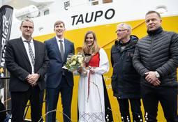 Nå er prosessbåten «Taupo» døpt