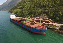 Ett tømmerskip sparer 140 lastebiler