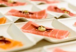 Lanzan sashimi de salmón vegano