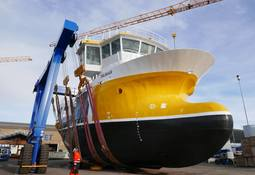 Ny prosessbåt sjøsatt