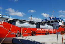 Chile: Comienza a operar nueva barcaza para baños con peróxido de hidrógeno