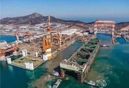 Megaproyecto salmonicultor en su última etapa de construcción en China