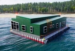 Construyen primer pontón habitable hecho íntegramente en Chiloé