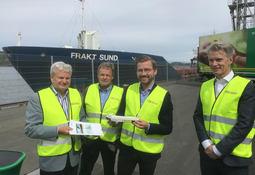 Verdens første utslippsfrie bulkskip lansert i Moss