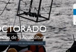 Doctorado en Ciencias de la Acuicultura inicia período de postulaciones