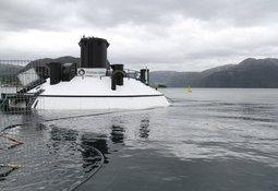 Globo flotante traslada 250 toneladas de postsmolt de salmón