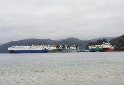 Sju bil-skip i opplag i Lyngdal
