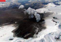 Declaran prealerta acuícola ante mayor actividad de volcán Hudson