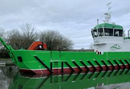 Ramping up: landing craft for organic salmon farmer
