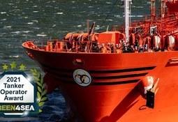 Odfjell tildelt Green4Sea Tanker Operator  Award