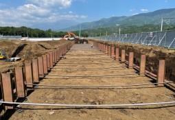 Revelan grandes avances en construcción de centro en tierra para salmón en Japón