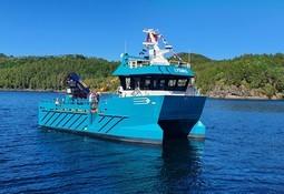 Sletta Verft leverer hybridkatamaran til Fylkesnes Fisk