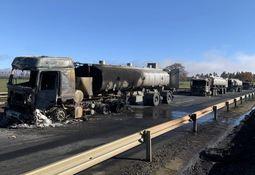 Camiones quemados en ataque en La Araucanía pertenecían a flota salmonicultora