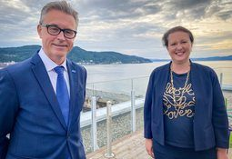 Fiskeri- og sjømatministeren møtte sin britiske kollega på Aquanor