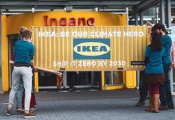 Krever at IKEA satser på utslippsfri shipping