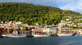 Seilskipene samlet i Bergen