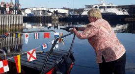 Norwegian premier christens 'world's fastest' electric boat