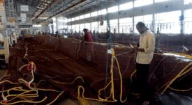 Redes de 11 toneladas para Havfarm ya comienzan a tomar forma
