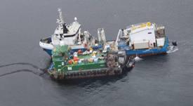 Autoridad Marítima investiga incendio que afectó a pontón de Australis Seafoods