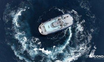 Nummer to av tre dual-fuel taubåter levert til Østensjø