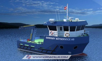 Ny arbeidsbåt bestilt av Sandsøy Båtservice