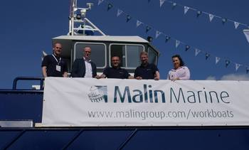 Malin makes a splash with new Clyde-built workboat