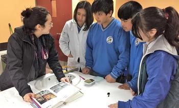 Estudiantes identifican organismos vivos en la costa de Contao