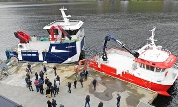 Dåp av Osland Havbruk sine to nye båtar