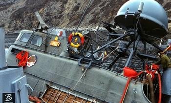 Dramatisk marineforlis med raketter ombord