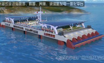 China builds wave power fish farm prototype