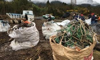 Retiran 4,5 toneladas de residuos en Estuario de Reloncaví