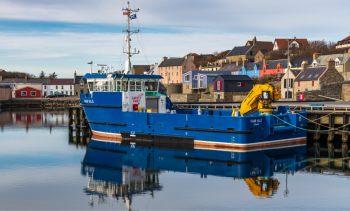Super-sized service boat focused on fish health