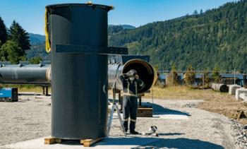 Cermaq's semi-closed cage takes shape in Canada