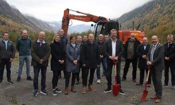 Byggingen av verdens største matfiskanlegg for ørret er nå i gang på Rjukan