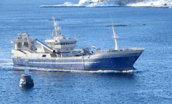 «Gitte» på grunn ved Værøy