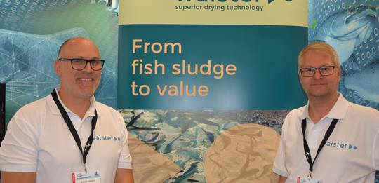 Tørker fiskeslam med patentert teknologi