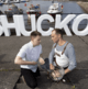 Oyster shuckers prepare to twist the knife